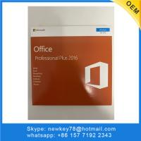 Quality Computer Software System Microsoft Office Professional Plus 2016 Retail Box With DVD Or USB for sale
