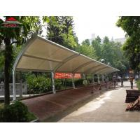 Buy cheap Iron Material Tensile Membrane Structures / Car Park Shade Structures from wholesalers