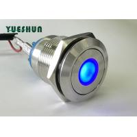 Quality Dot Type LED Light Push Button Switch Flat Head Good Physical Attack Resistance for sale