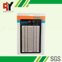 Quality Student DIY Transparent Soldered Breadboard 1660 Points 2 Terminal Strip for sale