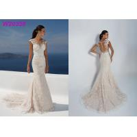 Buy Sleeve Less Sexy Backless Fit And Flare Wedding Dress , Bridal Wedding Gowns at wholesale prices