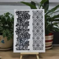 Buy new custom body white black henna tattoo sticker at wholesale prices