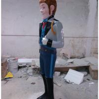 frozen character cartoon statue  life size of fiberglass colorful   as decoration in park garden