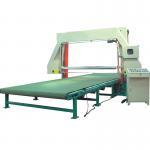 Quality 0-25m / Min PU Foam Cutting Machine , Horizontal Sponge Cutting Machine With Vacuum for sale