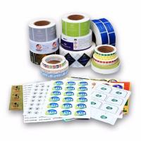 Quality Water Resistant Vinyl Business Stickers Logo Printed With Paper / Pvc / Pet Material for sale