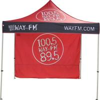 Quality Red color 3x3 Folding Gazebo Tent high peak with side wall for promotion for sale