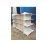 Quality Double - sided Supermarket Display Shelving Rack , Retail Shelving System for sale