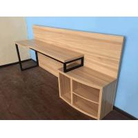 Hotel Style Furniture Chipboard Narrow Bedroom Computer Table Nature Color