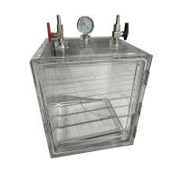 China Acrylic Vacuum Glove Box Desiccator 2 Gas Ports With Or Without Glove Port on sale