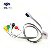 Quality HP Digitrak XT holter 10-lead snap wires ,AHA TPU material patient cable for ecg machine for sale