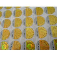 Buy Custom printed 2D 3D gold siver round oval rectangular hologram anti-counterfeit certificate label stickers at wholesale prices