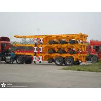 Quality 20 / 40 Foot Flatbed Semi Trailer Trucks / Skeletal Trailer 12 Pcs Container Twist With 2 Or 3 FUWA Axles for sale