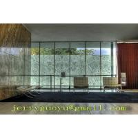 translucent onyx with glass strengthen wall