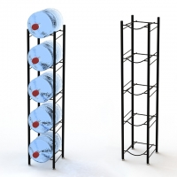 China 5 Tier Metal 5 Gallon Water Bottle Display Stand on sale