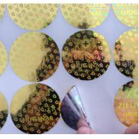 Buy Custom made various size 3D gold round shape anti-fake laser hologram stickers with serial number at wholesale prices