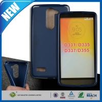 Quality Blue Transparent Plastic TPU Gel Cell Phone Protective Cases For LG L Bello D331 / D335 for sale