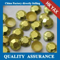 Quality YAX High Quality Shiny Silver Colored 2mm 3mm iton on hotfix rhinestone studs for clothing shoes jeans for sale