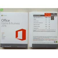 Quality Microsoft Office 2016 Home And Business PKC / Retail Version / OEM COA Sticker for sale