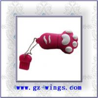 Quality WS802-Lovely cat feet USB Flash Disk for sale