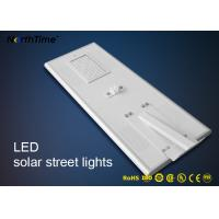 China PIR Motion Sensor Control Led Light Integrated Solar Street Light With High Brightness Bridgelux LED Chips on sale