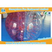 Red Half Bumper Bubble Inflatable Human Hamster Ball High Performance Acceptable Logo
