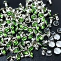 China Silver Framed Rivets Rhinestone Settings 5-11mm Glass Studs DIY Dog Collar Decorations Wallets Belt Accessories Trimming on sale