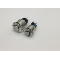 Quality Latching 12v Annular 19mm  Metal Momentary Push Button for sale
