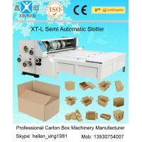 Buy Chain Feeding Semi Automatic Die Cutting Machine , Carton Sheet With Pressure Plate at wholesale prices