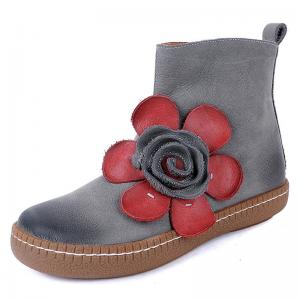 Quality S013 Short boots women's autumn and winter Huizu beautiful explosion models women's shoes, women's boots, flowers, for sale