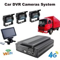 Quality 4Ch Hard Drive Car Dvr Recorder System With 3G / 4G / GPS / WIFI / G-Sensor for sale