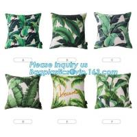 Quality Tropical Leaf Latest Design Digital Printing , Cushion Cover Decorative Pillow Covers for sale