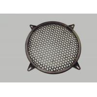 Round Type Waffle Speaker Grill Mesh Metal Size Customized Images
