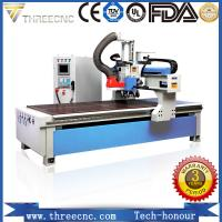 Quality wood cutting machine price for nonmetal and soft metal with automatic tools changer. TM1325D THREECNC for sale