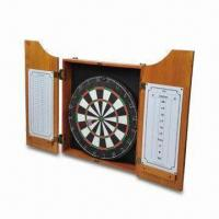 Quality 18 x 1-1/2 Inches Round Wire Spider Dart Board, Includes 6 Steel Tip Darts, Marker and Eraser for sale