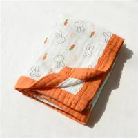 Quality 6 Layers Anti Bacterial Muslin Baby Blankets Super Absorbent For Summer for sale