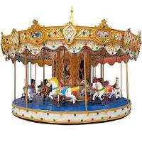 Quality Outdoor Luxury Swing Theme Park Carousel Horse Ride With LED Lights And Music for sale