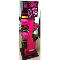 Quality 4C offset printing Corrugated Cosmetic Display Stands for Advertising in supermarket for sale