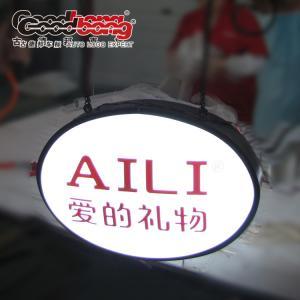 Quality Vacuum Forming Acrylic LED Lighting Sign Board,  LED Illuminated Hanging Sign Box for sale