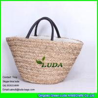 Quality natural seagrass straw large size beach bags for sale
