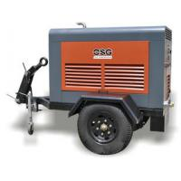 Quality Tunnel 45KW Portable Diesel Air Compressors / Industrial Diesel Driven Screw Compressor for sale