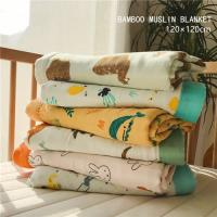 Quality Soft Bamboo Crib Muslin Baby Blankets Grade A For Summer Zero Formaldehyde for sale