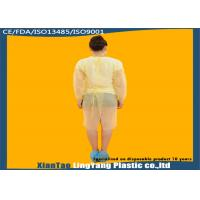 Quality Durable Elastic Cuff Disposable Dressing Gowns , Disposable Surgical Apron OEM Service for sale