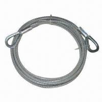 China Wire Rope Sling with Galvanized and Ungalvanized Surface Finish on sale