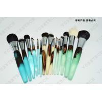 Quality Wooden Handle Makeup Cosmetic Brush Set Synthetic Hair Aluminum Ferrule Material for sale