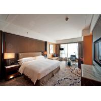 Contemporary Bedroom Sets With Fabric Living Room , Plywood Veneer Luxury Hotel Furniture