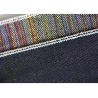 Quality 15.5oz Color Blended Stretch Cotton Twill Fabric Straight For Jeans Breathability for sale