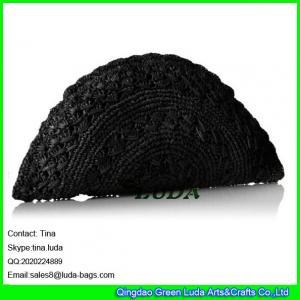 e2e99eee7e ... shoulder bag. Contact Supplier. Quality LUDA ladies straw evening  clutch navy blue crochet raffia straw handbag for sale
