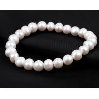 Quality Pearl bracelets, 8mm round beads freshwater pearl bracelets for sale