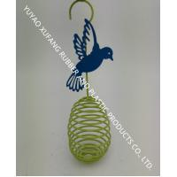 Quality Decoration Colorful Wire Bird Feeder Powder Coated 2.95 X 2.95 X 11.4 Inches for sale