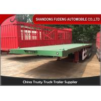 Quality 3 Axles 40 Ft 20 Ft Flatbed Trailer 70 Tons Payload Optional With 12R22.5 Tires for sale
